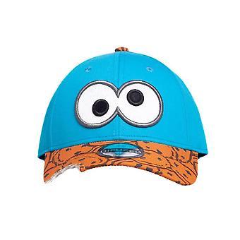 Sesame Street Cookie Monster Bite Curved Bill Cap