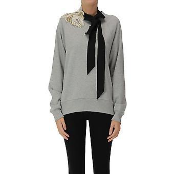 Dries Van Noten Ezgl093195 Women's Grey Cotton Sweatshirt