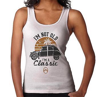 Citro?n 2CV Black I'm Not Old Classic Sunset Women's Vest