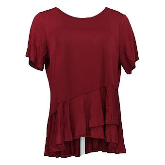 DG2 by Diane Gilman Women's Top Red Pullover Rayon Sleeveless 732-055