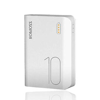 Romoss Sense 4 Mini External 10,000mAh Powerbank Emergency Battery Charger Charger White