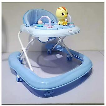 Sturdy Iron Plastic Comfortable 6 Wheels Baby Walker First Steps Learning To Walk