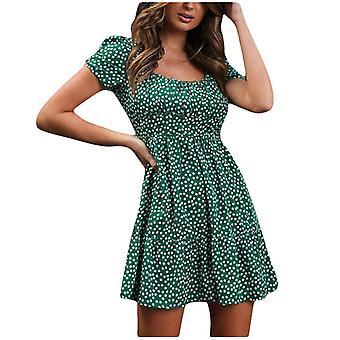 Women's Doted Print Casual Mini Sexy Dress