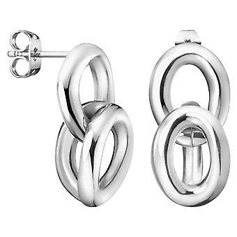 Calvin Klein Statement Silver Stainless Steel Drop Earrings Ladies Jewellery KJALME000100