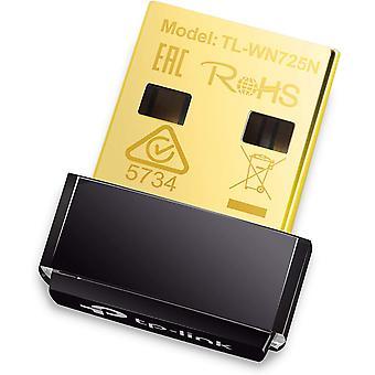 Tp-link tl-wn725n 150 mbps sans fil-n nano adaptateur usb, 2,4 ghz, dongle wifi pour fenêtres 10/7/8/8.1/