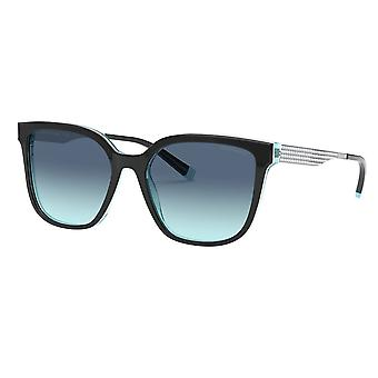 Tiffany Tf4165 82749s 54 Black And Blue Gradient Square Ladies Sunglasses