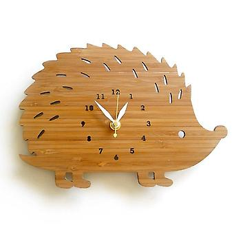 Creative Modern Bamboo Hedgehog Wall Clock