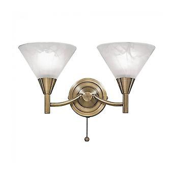 Harmony Bronze Wandleuchte 2 Glühbirnen