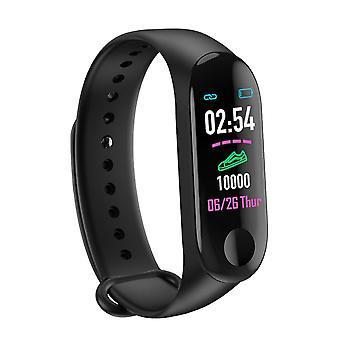 M3 Fitness Tracker Smart náramok-srdcová frekvencia, krvný tlak Monitor