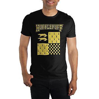 Harry potter hufflepuff element of earth men's black t-shirt