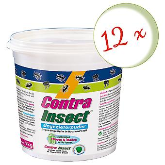 Sparset: 12 x FRUNOL DELICIA® Contra Insect® Ungeziefer-Puder, 1 kg