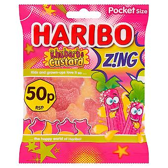 HARIBO Rhubarb And Custard Z!ng, 70g Bag