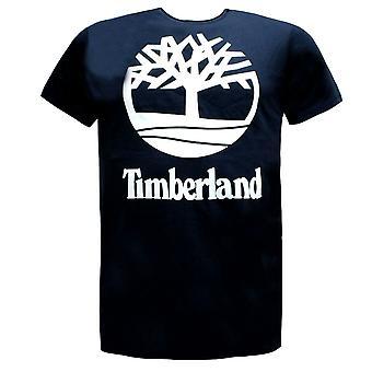 Timberland Mens T-Shirt Casual Logo Training Top Navy A1NAK 433