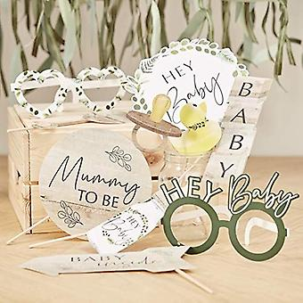Baby Shower Photo Booth Props - Botanical Baby x 10