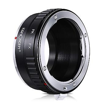 K&f concept lens mount adapter for pentax k pk mount lens to fuji x-series x fx mount mirrorless cam