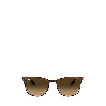 Ray-Ban RB3538 top brown on gunmetal unisex sunglasses