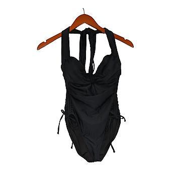 Sun Kitten Swimwear Swimsuit The Housewife One-Piece Black A379964