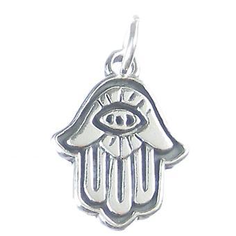 Koptilainen silmä Sterling Hopea Charm .925 x 1 Khamsa Käsi Fatima Mary - 3795