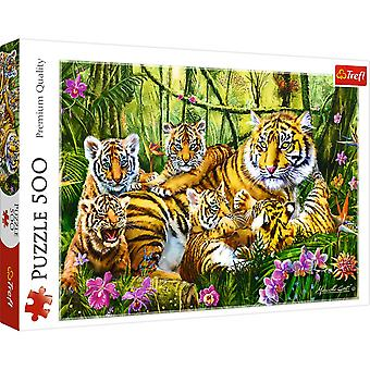 Trefl family of tigers 500 pieces puzzle premium quality