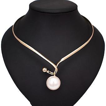 Legierung Drehmomente simuliert Perle Anhänger Halsketten