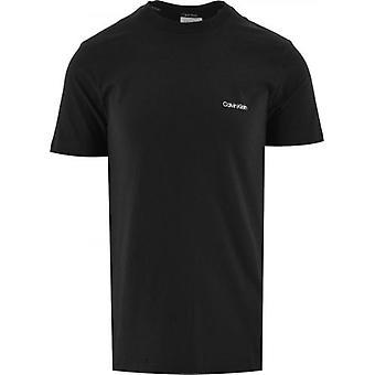 Calvin Klein Musta Puuvilla Rinta Logo T-paita