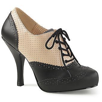 בבקשה נשים&נעליים ורוד קרם-Blk עור מזויף