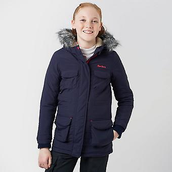 New Peter Storm Girl's Full Zip Long Sleeve Bella Parka Navy