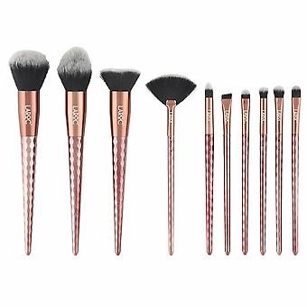 LaRoc 10pc Makeup Brush Set - Bronze