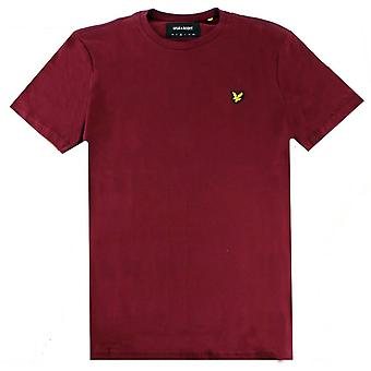 T-shirt Lyle e Scott Plain - Merlot Burgundy