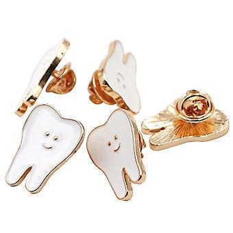 Teeth Metal Brooch Cute Cartoon Shape Badge Accessories For Dental Clinic