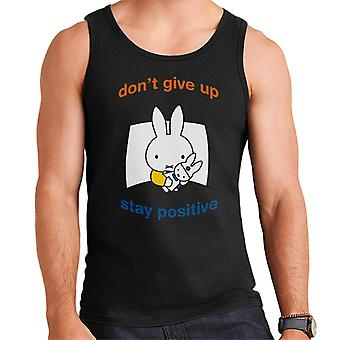 Miffy Dont Give Up Stay Positive Men's Vest