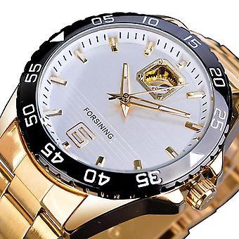 FORSINING GMT 1172 Mode Männer automatische Uhr Leuchtendes Display wasserdicht Stai