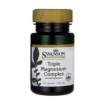Triple Magnesium Complex, 400mg 30 capsules
