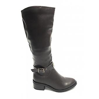 Shoes Women's Boot Cavallerizzo Gold&gold In Ecopelle Testa Di Moro D20gg50