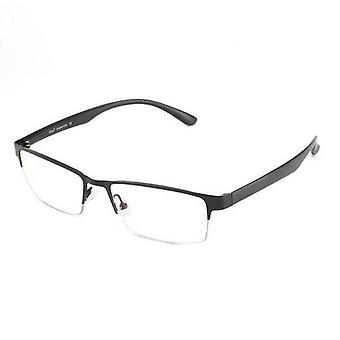 Anti Blue Light Computer Glasses Metal Half Rim Rectangle Frame