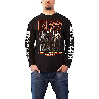 KISS T Shirt End Of The Road Tour Band Logo new Official Mens Black Long Sleeve