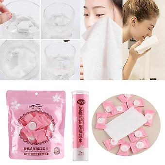 Disposable Pure Cotton Compressed Portable Travel Face Towel