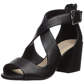 Kenneth Cole New York Womens Hannon Criss Cross Fabric Peep Toe Ankle Strap Classic Pumps