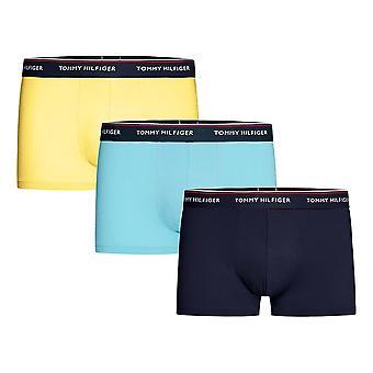 Tommy Hilfiger Premium Essential Stretch Baumwolle 3-Pack Boxer Kurz, Peacoat / blaue Grotte / Primelgelb, groß