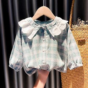 Kids Plaid Blouse Shirt