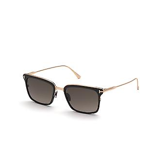 Tom Ford Hayden TF831 01K Skinnende Svart/Roviex Gradient Solbriller