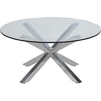 AC Design Möbel Couchtisch Heather, B: 82 x T:82 x H: 40 cm, Glas, Klar