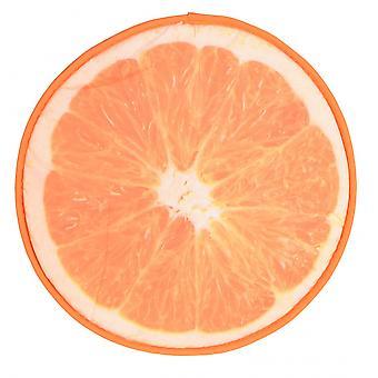 kussen oranje 34 x 1,5 cm textiel oranje