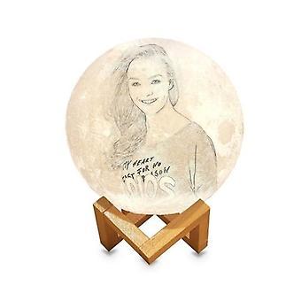 15cm/5.9in персонализированный фото свет / 3D Печатные Луны глобус лампы【Изображение размером:1000-1000】