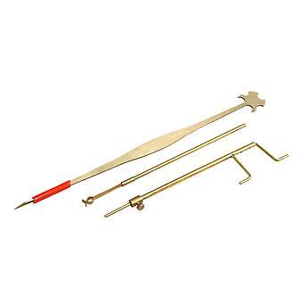Cello Sound Post Gauge Measurer Retriever Setter Luthier Repair Tool Set