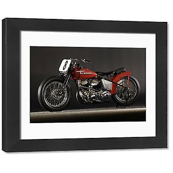 Harley Davidson WR Daytona 1948. Framed Photo. Harley Davidson WR DAYTONA 1948.