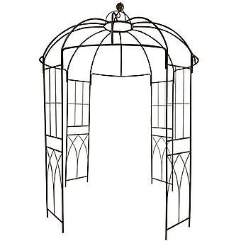 Francouzský styl 4-sided Birdcage Shape Metal Gazebo Pergola Pavilion Arch Arbor Arbour Plants Stojan