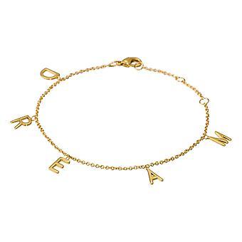 'DREAM' bracelet chaine et lettering doré à message