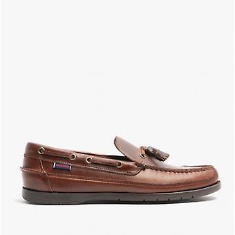 Sebago Ketch Mens Leather Deck Chaussures Brown Gum