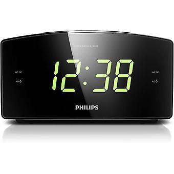 FengChun Philips AJ3400/12 Radiowecker/Uhrenradio (Groes Display, 2 Weckzeiten, Digitaler UKW-Tuner,